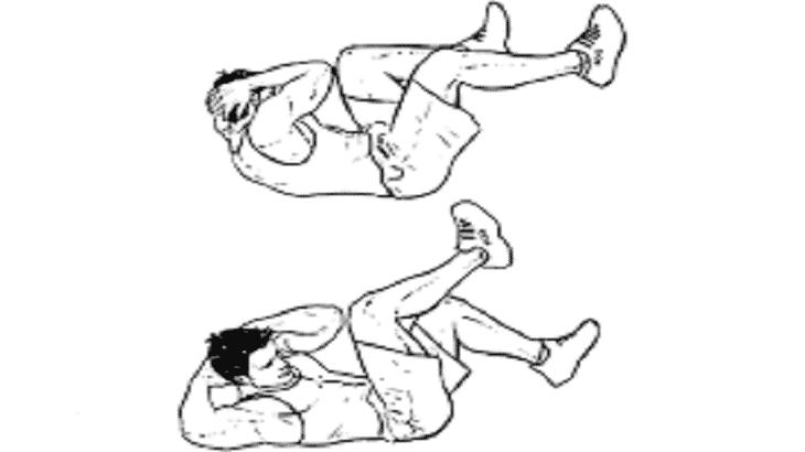 تمرين رفع القدمين