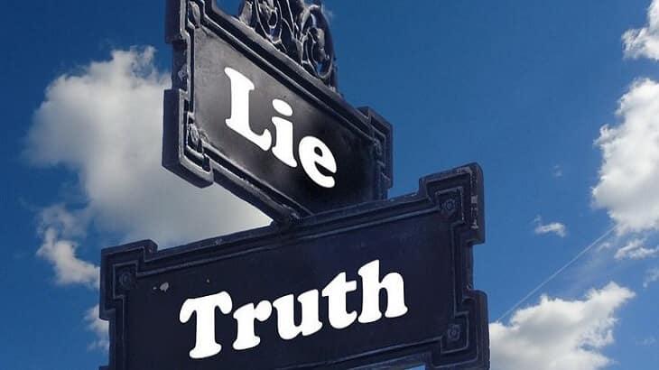 موضوع تعبير عن الصدق والكذب بالعناصر والافكار