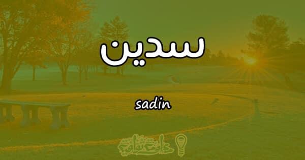 معنى اسم سدين sadin وصفات حاملة الاسم