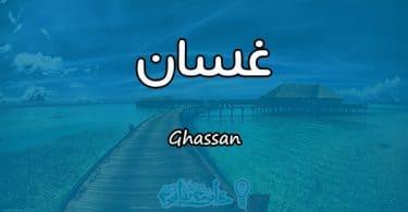 معنى اسم غسان Ghassan وصفات حامل الاسم
