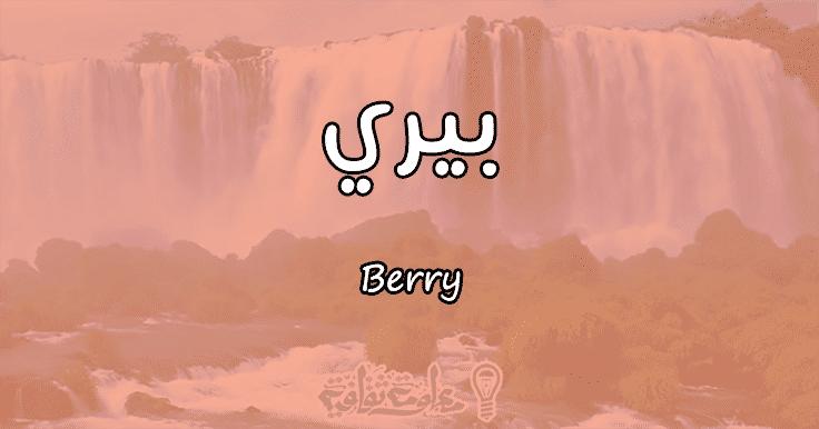 معنى اسم بيري Berry وأسرار شخصيتها وصفاتها