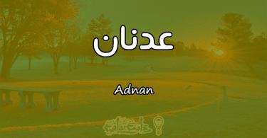 معنى اسم عدنان Adnan وصفات حامل الاسم