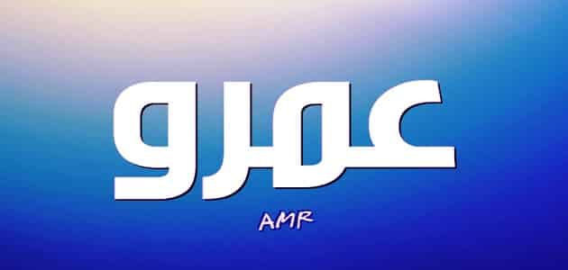 معنى اسم عمرو Amr وأسرار شخصيته وصفاته