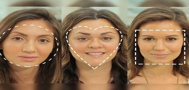 أشكال الوجه