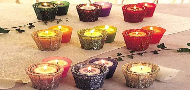 صناعة الشمع المنزلي