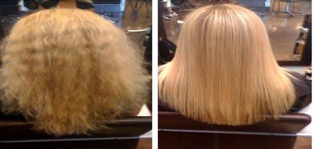 طرق طبيعية لفرد الشعر مثل الكيراتين