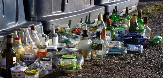 كيفية الاستفادة من اعادة تدوير العلب الزجاجية