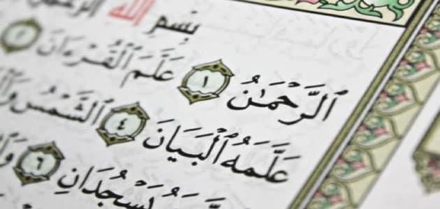 تفسير رؤيا سورة الرحمن في المنام