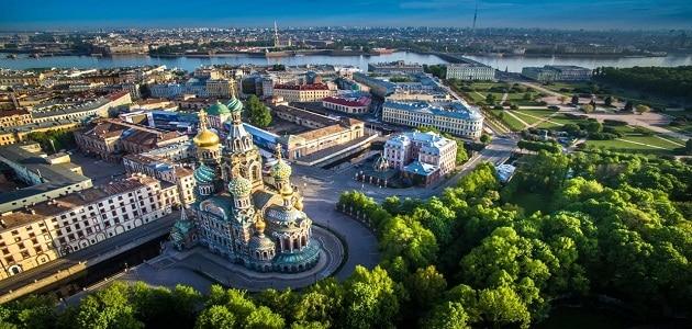أجمل نافذة ساحلية سانت بطرسبرغ الجميلة