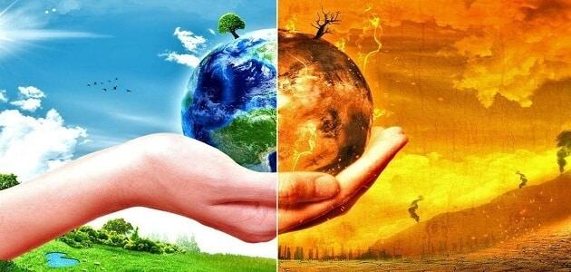 بحث عن مشكلة الاحتباس الحراري وكيف تؤثر في المناخ