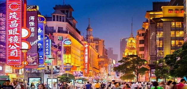 أكبر مدينة تجارية عالمية في شنغهاي الصين