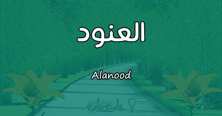 معني اسم العنود Alanood وشخصيتها حسب علم النفس معلومة ثقافية