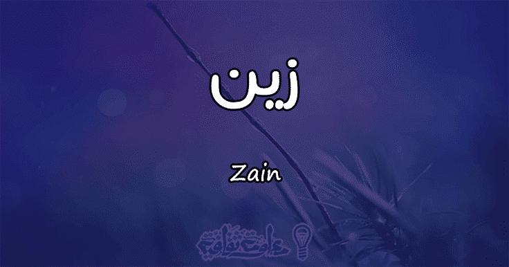 معنى اسم زين في القران