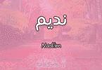معنى اسم نديم Nadim وأسرار شخصيته وصفاته