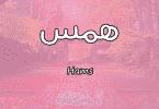 معنى اسم همس Hams وشخصيتها حسب علم النفس