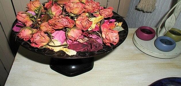 طريقة تجفيف الورد في المنزل