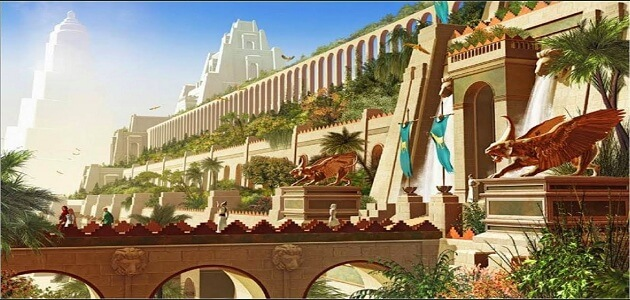Why are the gardens of Babylon named after this name and the causes of its destruction