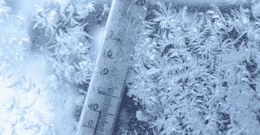 أقل درجة حرارة مسجلة في العالم