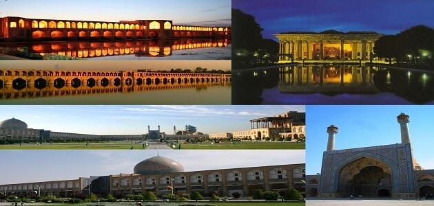 الآثار التاريخية في اصفهان وسمرقند