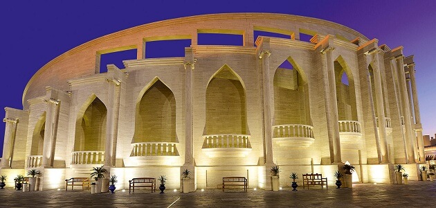 Where is the location of the city of Katara in Qatar
