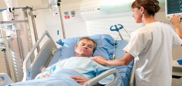 رؤية شخص مريض في المستشفى في المنام