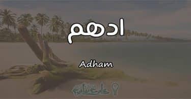 معنى اسم ادهم Adham وشخصيته حسب علم النفس