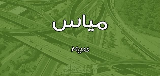 معنى اسم مياس Myas وأسرار شخصيتها وصفاتها