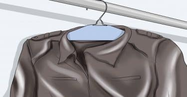 كيف يتم كي الملابس الجلدية