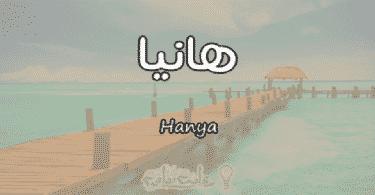 معنى اسم هانيا Hanya وشخصيتها حسب علم النفس