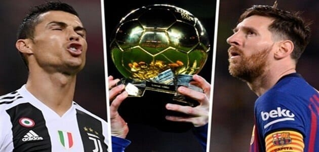 The number of gold balls for Messi and Ronaldo