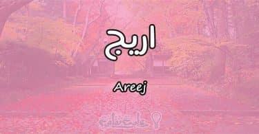 معنى اسم اريج Areej وأسرار شخصيتها وصفاتها