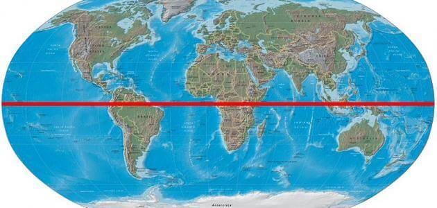 أين يقع خط الاستواء في الوطن العربي