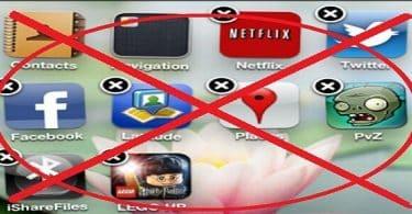 حذف البرامج من الايفون نهائيا