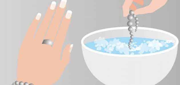 طريقة تلميع الفضة بالكربونات