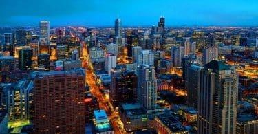اين تقع شيكاغو في اي ولاية