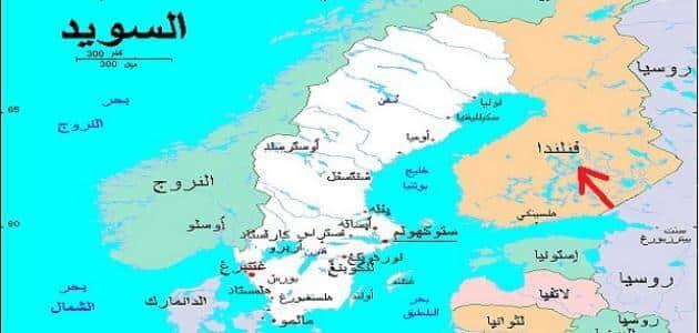 اين تقع فنلندا في الخريطة