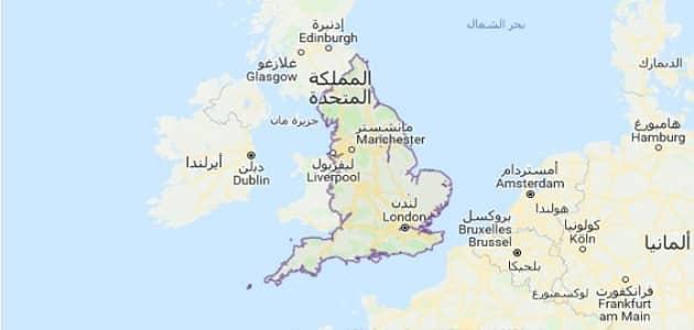 اين تقع لندن في الخريطة معلومة ثقافية