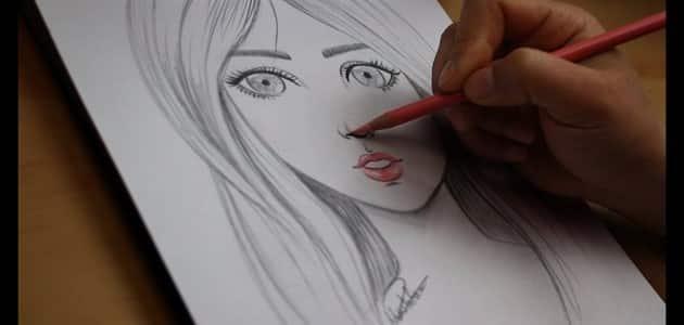 رسم بنات سهلة بالرصاص رسومات سهله وجميلة