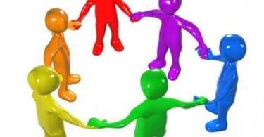 حوار بين شخصين عن التعاون وفوائده