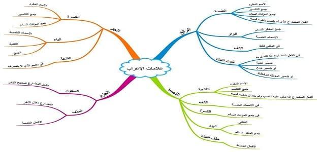 جدول علامات الإعراب الأصلية والفرعية معلومة ثقافية