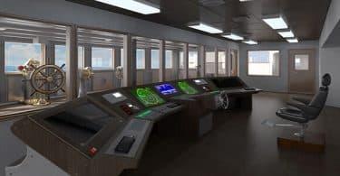ماذا تسمى غرفة القيادة في السفينة