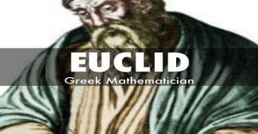 موضوع عن اقليدس عالم الرياضيات