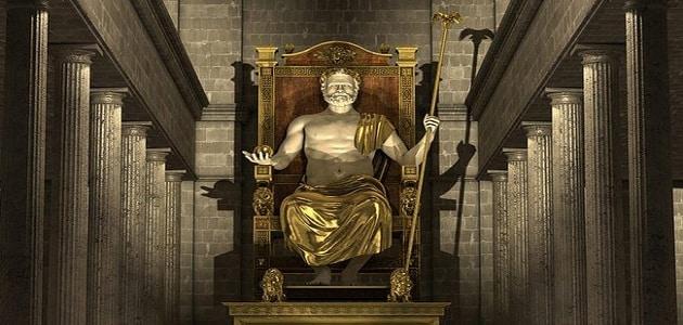 معلومات تاريخية عن تمثال زيوس