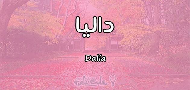 معنى اسم داليا Dalia واسرار شخصيتها وصفاتها