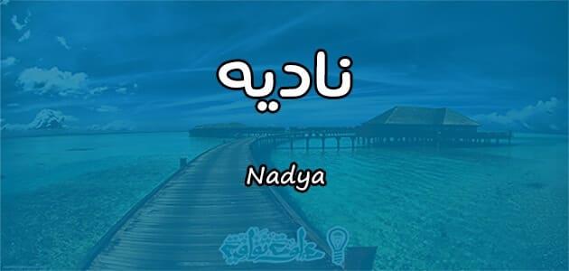 معنى اسم ناديه Nadya حسب علم النفس معلومة ثقافية