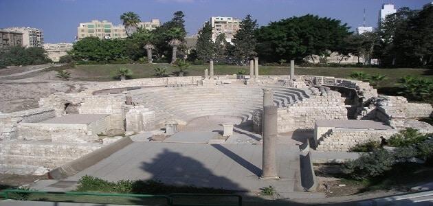 موضوع تعبير عن المسرح الروماني بالإسكندرية