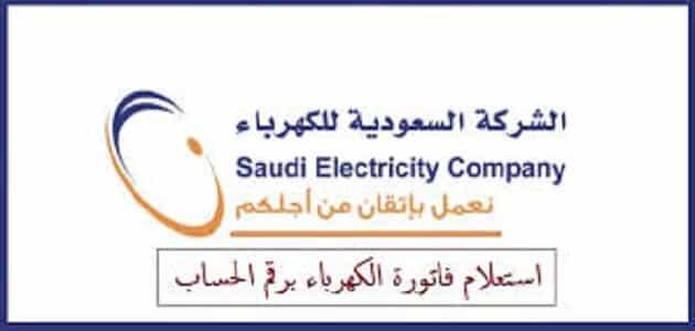 استعلام عن فاتورة كهرباء