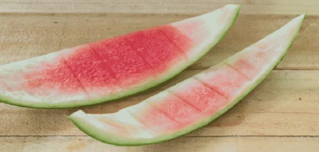 فوائد قشر البطيخ الأحمر