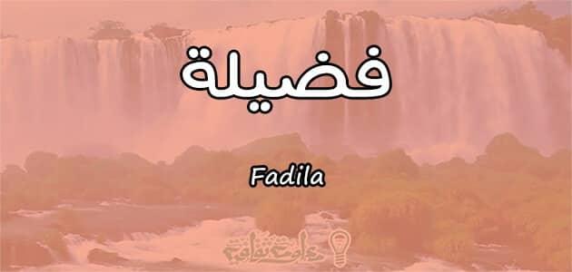 ما معنى اسم فضيلة Fadila في علم النفس