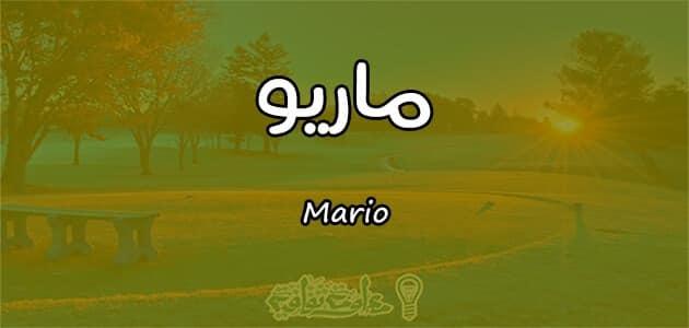 معنى اسم ماريو Mario واسرار شخصيته وصفاته